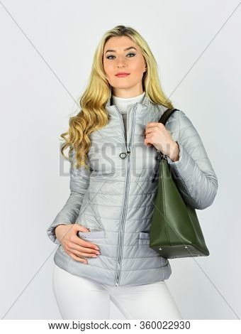 Outfit Ideas. Tote Or Shopper Bag For Any Occasion. Woman Use Leather Clutch. Girl After Hairdresser