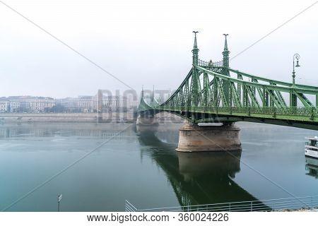 Budapest, Hungary - November 11, 2018: The Liberty Bridge In Budapest, Travel