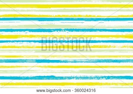 Watercolor Thin Parallel Lines Vector Seamless Pattern. Material Gift Wrapping Paper Design. Retro G