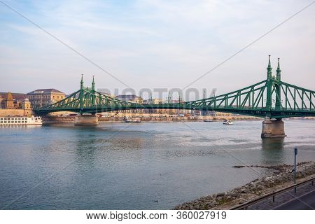 Budapest, Hungary - November 10, 2018: The Liberty Bridge In Budapest, Travel