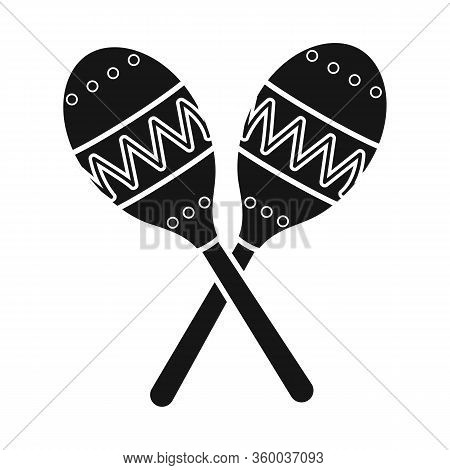 Vector Illustration Of Maraca And Instrument Sign. Web Element Of Maraca And Maracas Stock Symbol Fo