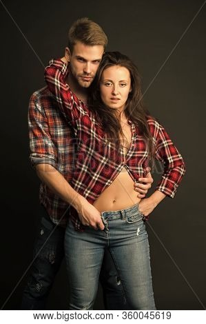 Sexy Couple. Youth Casual Fashion. Sensual Couple Embrace. Couple In Love. Happy Valentines Day. Ero