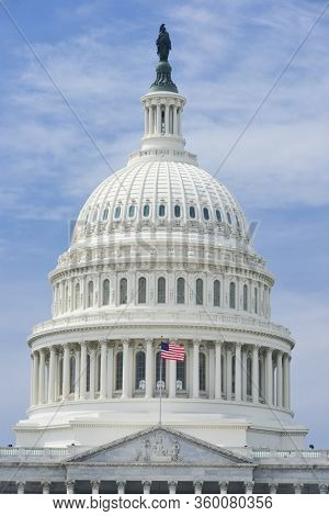 United States Capitol in springtime - Washington DC, United States