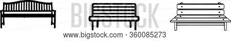 Bench Icon Isolated On White Background , Recreation, Recreational, Relax