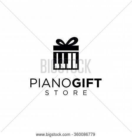 Music Gift Logo Design Template . Piano Gift Logo Design .music Store Logo Designs Template . Piano