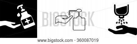 Hand Sanitizer Pump Bottle, Washing Gel, Alcohol Gel