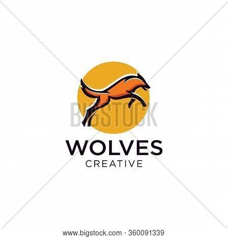 Wolf Logo Design Vector Stock Illustration . Wolves Logo Design Template