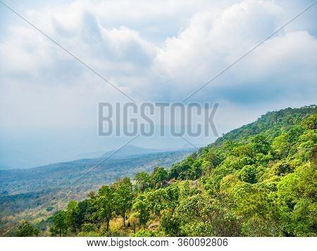 Beautiful Scenery View From Yeabmek Cliff On Phu Kradueng Mountain National Park In Loei City Thaila