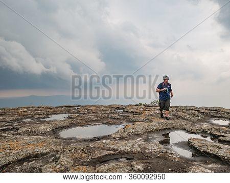 Loei/thailand-17 Feb 2019:unacquainted Tourist On Beautiful Scenery View From Phu Kradueng Mountain