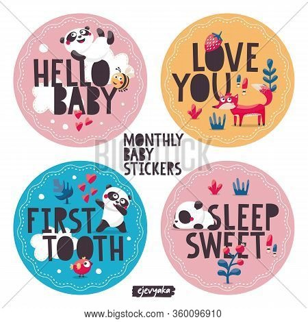 Monthly Baby Stickers With Cute Animals For Capturing Babys Special Moments
