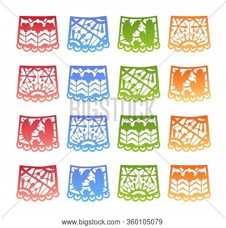 Papel Picado - Mexican Fiesta Colorful Bunting Set