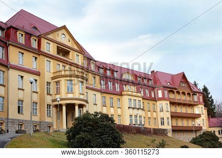 Hospital located in old palace building at Kowary in Karkonosze Mountains