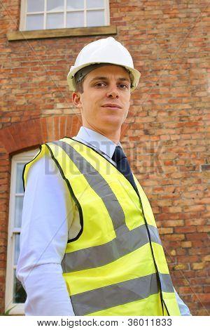 Surveyor Or Inspector Outside A Property