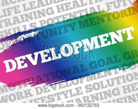 Development Word Cloud Collage, Business Concept Background