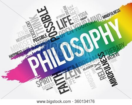 Philosophy - Word Cloud Collage, Concept Background