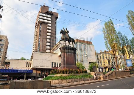 Kiev, Ukraine - April 30, 2011. Monument To Nikolay Shchors - A Monument To The Red Commander Of The