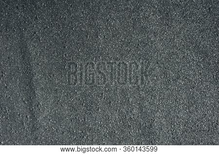 Bitumen Roof Texture. Black Asphalt Surface. Grey Road Granular Material