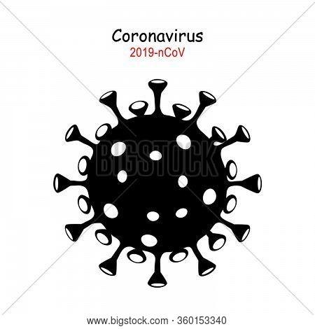 Corona Virus. Virus Cells Or Bacteria Molecule. Flu, View Of A Virus Under A Microscope, Infectious