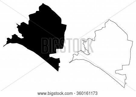Almeria City (kingdom Of Spain, Andalusia) Map Vector Illustration, Scribble Sketch City Of Almeria