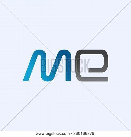 Initial Me Letter Logo Vector Template. Abstract Letter Me Logo Design. Minimalist Linked Letter Tre