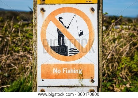 No Fishing Beyond This Point - Warning Sign