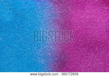 Abstract Art Background Dark Purple And Blue Colors. Watercolor Painting On Canvas With Soft Magenta