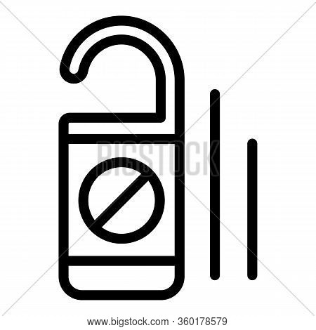 Cruise Door Hanger Icon. Outline Cruise Door Hanger Vector Icon For Web Design Isolated On White Bac