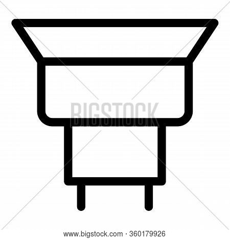 Maintenance Gutter Icon. Outline Maintenance Gutter Vector Icon For Web Design Isolated On White Bac