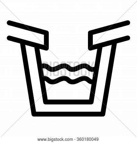 Trough Gutter Icon. Outline Trough Gutter Vector Icon For Web Design Isolated On White Background