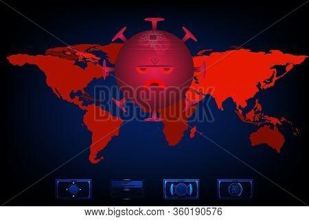 Coronavirus Attack On World Concept (2019-ncov). Virus Covid 19-ncp. Background Vector Illustration