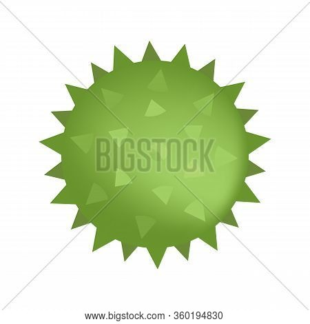 Spiked Sensory Ball Of Green Color Isolated On White. Vector Illustration