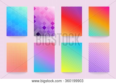 Minimal Vector Abstract Cover Notebook Design. Planner And Diary Bright And Pastel Cover For Print.