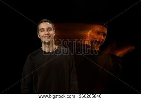 Smiles Outside, Laughting Inside. The Versatility Of Man - Opened Emotions And Hidden Feelings. Cauc