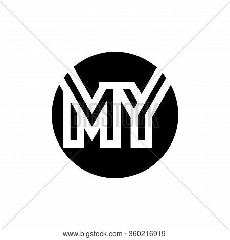 Initial My Letter Logo Design Vector Template. Abstract Letter My Logo Design