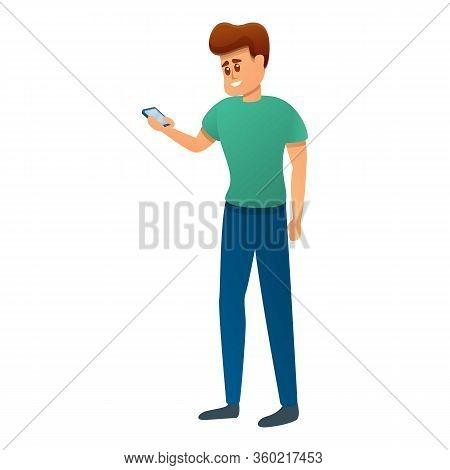 Student Read University Chat Icon. Cartoon Of Student Read University Chat Vector Icon For Web Desig