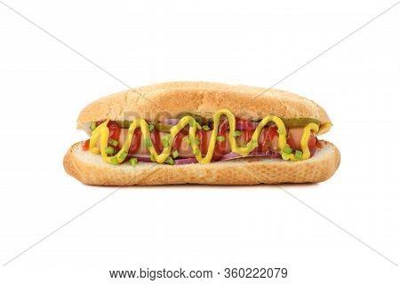 Tasty Hot Dog Isolated On White Background