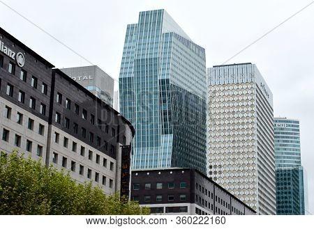 Paris, France. August 15, 2018. Modern Architecture Sample At La Defense Parisian Business District.