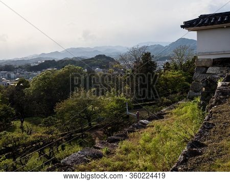 Kochi, Japan - April 6, 2018: View From The Ramparts Of Kochi Castle, One Of The 12 Original Edo Per