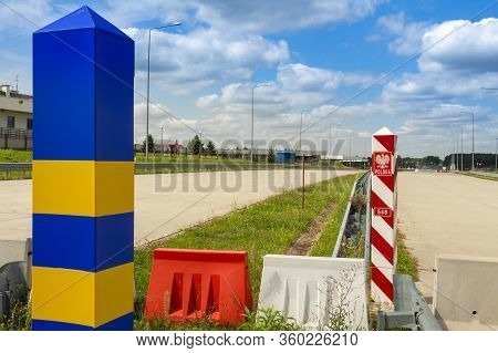 The Border Marks Between Ukraine And Poland, That Indicate The Place Of Passage Of The State Border