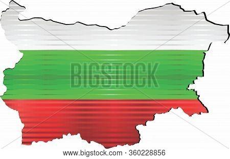 Shiny Grunge Map Of The Bulgaria - Illustration,  Three Dimensional Map Of Bulgaria