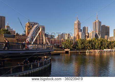 Melbourne, Australia - December 4: South Melbourne At Sunset On December 4, 2018 In Melbourne, Austr