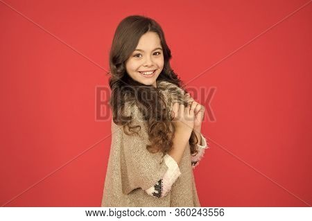 Beautiful Model Kid. Fashion Concept. Best Shampoos And Conditioners For Lush Hair. Nourish Dull And