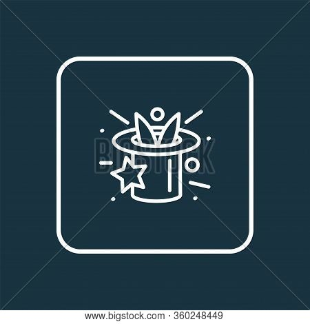 Magicians Hat Icon Line Symbol. Premium Quality Isolated Illusionist Element In Trendy Style.