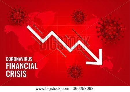Coronavirus Impact Global Financial Downfall Crisis Vector Design Illustration