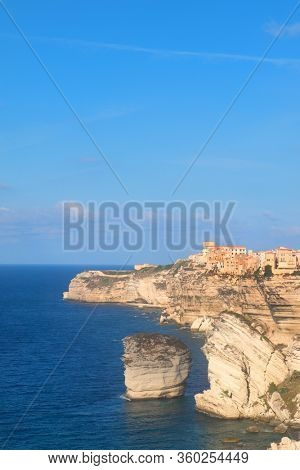 City Bonifacio on the rocks in the South of French Corsica
