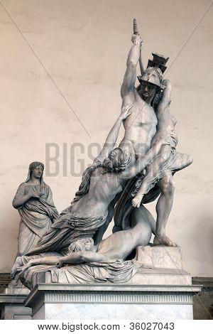 The Rape Of Polyxena By Pio Fedi