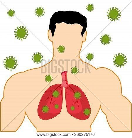 Body Men With Light Infected Coronavirus Covid-19