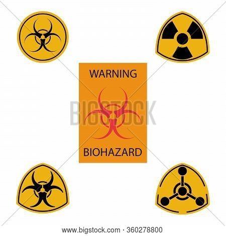 Biohazard Icon, Radiation Caution. Danger, Biohazard Sign.