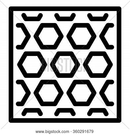Hexagonal Paving Icon. Outline Hexagonal Paving Vector Icon For Web Design Isolated On White Backgro