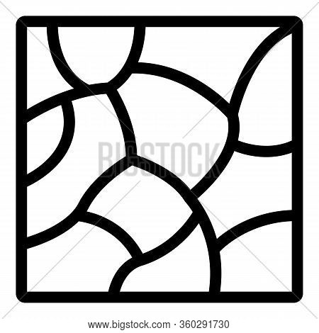 Stone Paving Icon. Outline Stone Paving Vector Icon For Web Design Isolated On White Background